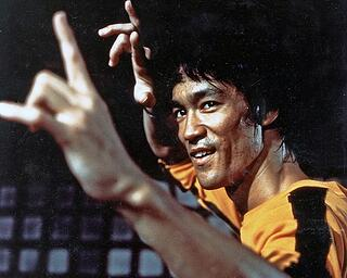 """Lee in """"Game of Death."""" Moral: don't mess with people in yellow jumpsuits."""
