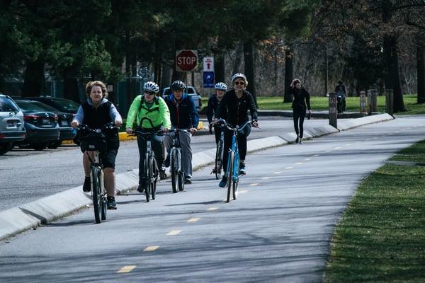 Biking is good exercise.