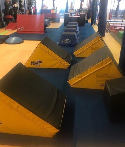 A fully set-up NinjaTrix course!