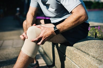 Injuries to joints like the knees are painful.