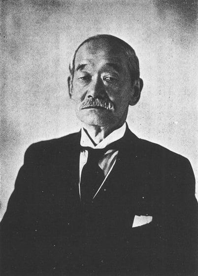 Jigoro Kano, the creator of judo techniques.