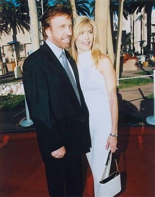 Chuck Norris and Gena Norris.