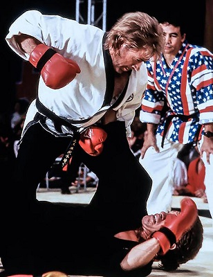 Chuck Norris karate fight.