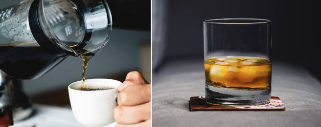 Caffeine and alcohol can both negatively impact your sleep.