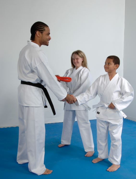 Respect between instructors and students helps teach confidence in karate and other martial arts.