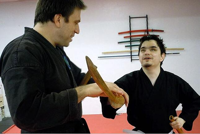 Martial arts for the visually impaired.