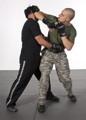 Krav Maga martial arts elbow strike