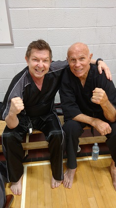 "Perry William Kelly (right) and Bill ""Superfoot"" Wallace."