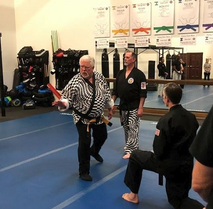 Training in the Century Martial Arts Club with Ted Sumner.