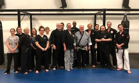 Grand Master Ted Sumner with members of the Century Martial Arts Club.
