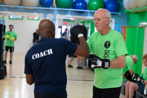 Fighting Parkinson's disease at Rock Steady Boxing.