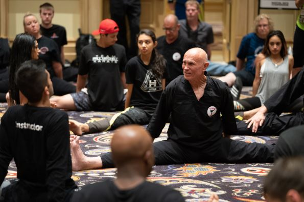 Superfoot Bill Wallace at the Martial Arts Industry Association SuperShow 2018.
