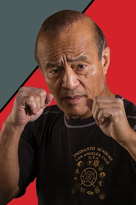 Guro Dan Inosanto, master of the Filipino Martial Art Kali and Bruce Lee student.