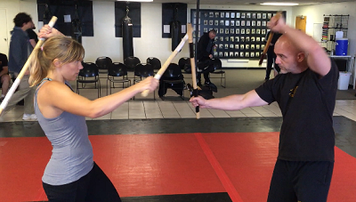 Training kali with Century Rattan Escrima at a Guro Dan Inosanto seminar in Tulsa, Oklahoma.