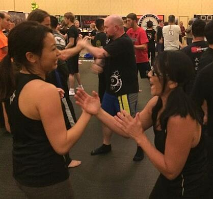 Women train Jeet Kune Do at the Martial Arts SuperShow.