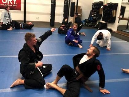A Brazilian jiu-jitsu class at Century Martial Arts.