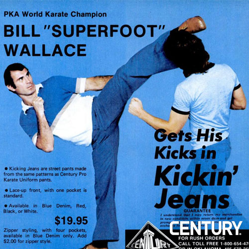 "Bill ""Superfoot"" Wallace Kicking Jeans"