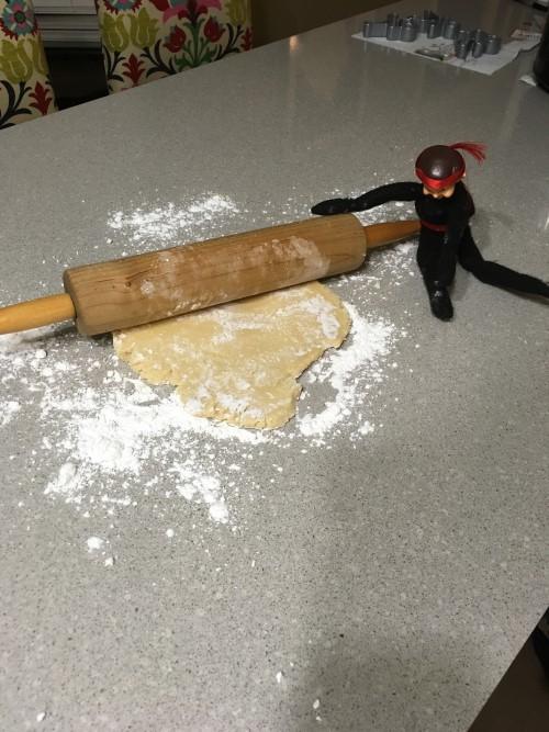 Nigel Rolls the Cookie Dough