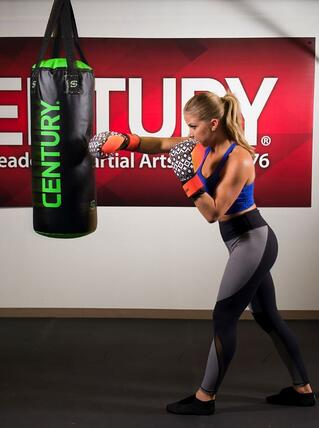 Strive Gloves (pictured here) are perfect for Cardio Boxing and Cardio Kickboxing!