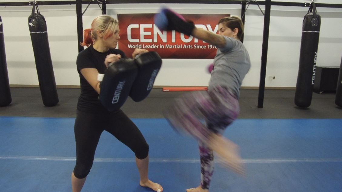 Partner training with Thai pads is great cardio fitness exercise!