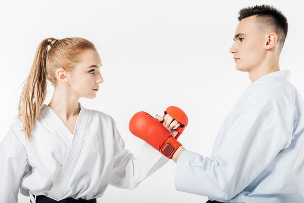 Sparring is a fun part of karate that develops valuable skills.