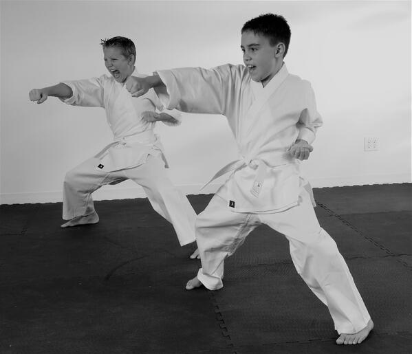 Working together to execute a synchronized kata, or form, takes teamwork and discipline, both fundamental martial arts values.