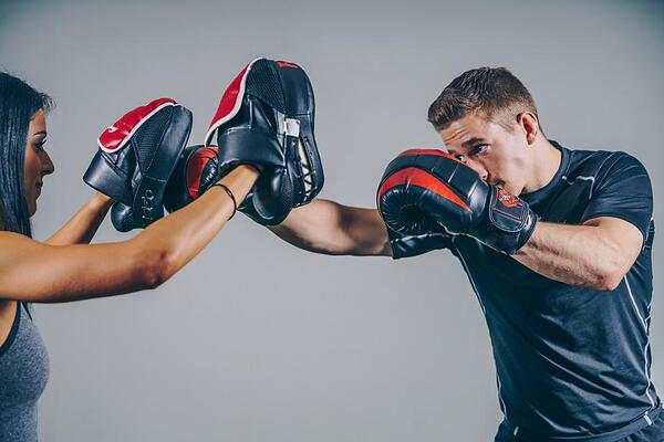 Doing cardio kickboxing with a partner and focus mitts is a ton of fun too! Photo by Nicole De Khors via Burst.