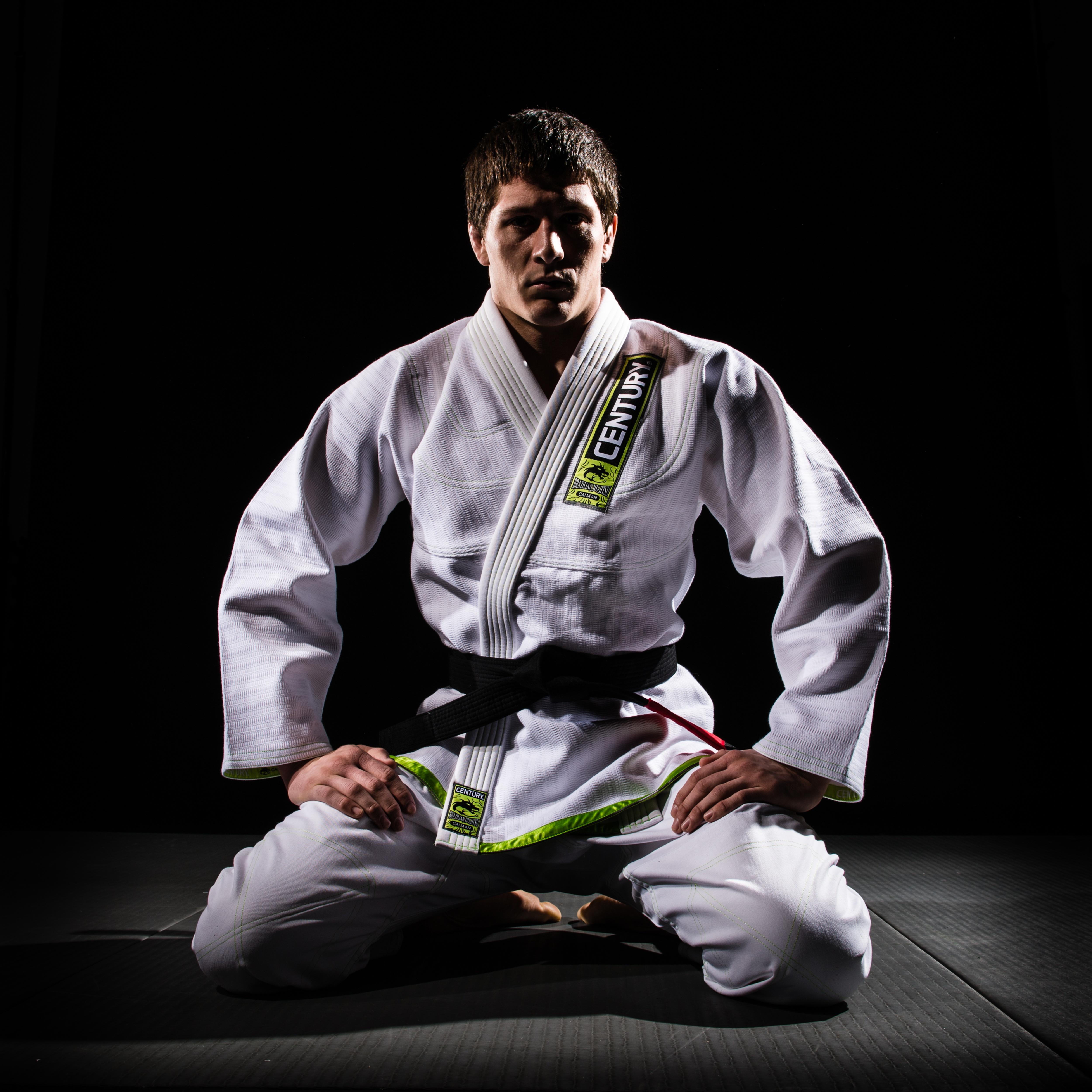 A Brazilian jiu-jitsu practitioner in a gi.