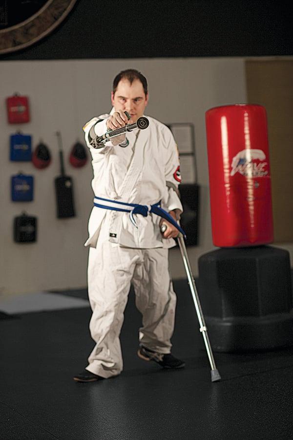 Jason Davis of the Adaptive Martial Arts Association