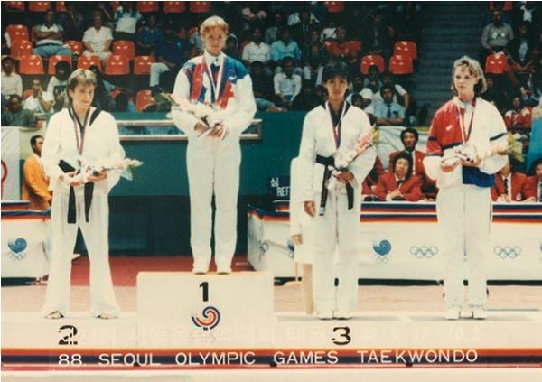Dana Hee in the 1988 Olympics.
