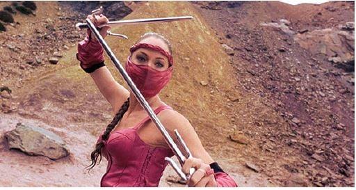 Dana Hee as Mileena inMortal Kombat: Annihilation.