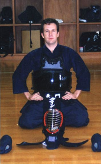 Quinton Hooper, studying kendo in Nagato, Japan.