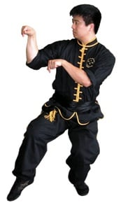The Seven Star posture of Mantis Kung Fu.