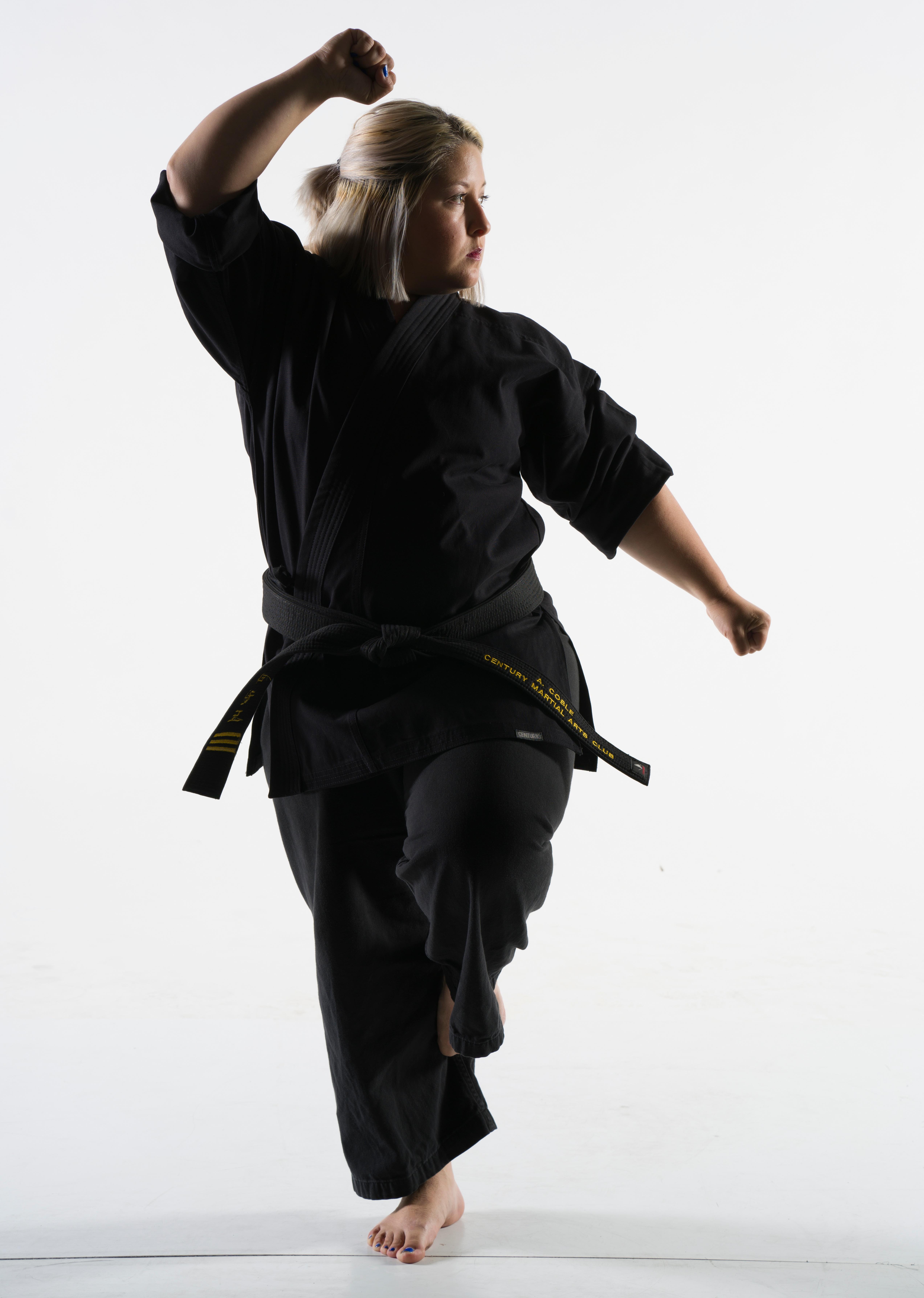 Amber Coble of Century Martial Arts is taekwondo black belt!