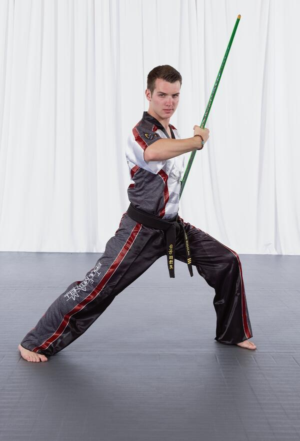 Jakcson Rudolph of Team Paul Mitchell Karate!