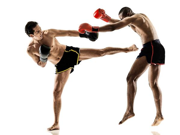 This is regular kickboxing. It hurts in a way that's more than just muscle burn.