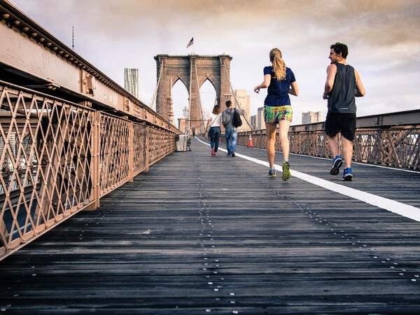 Running with a friend is a great way to stay or get in shape!