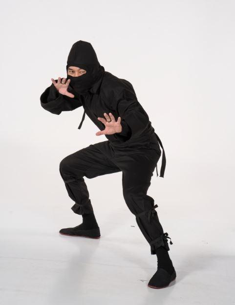 Century Martial Arts' ninja uniform (ninja not included with purchase).
