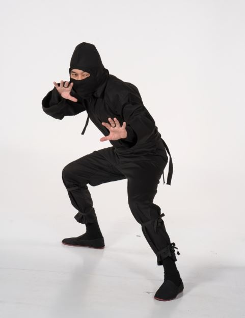 Century Martial Arts' ninja uniform (ninja not included with purchase).