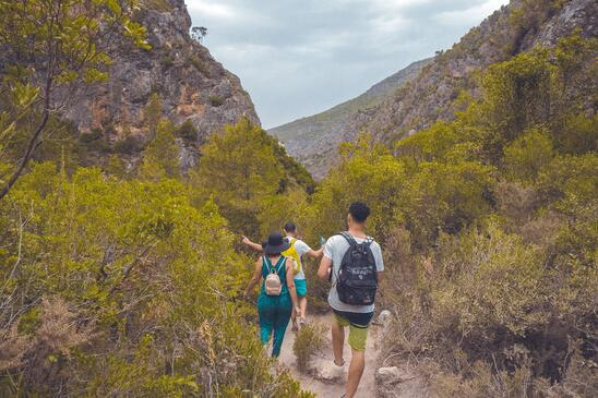 Photo by Hassan OUAJBIR from Pexels. Hiking is a great fitness exercise.