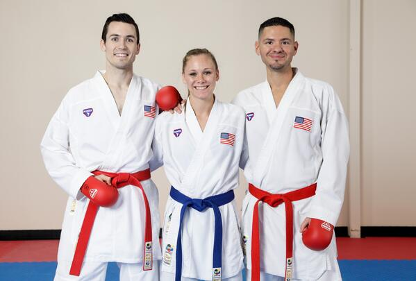 (left to right) Tom Scott, Jenna Brown, and Adrian Galvan.