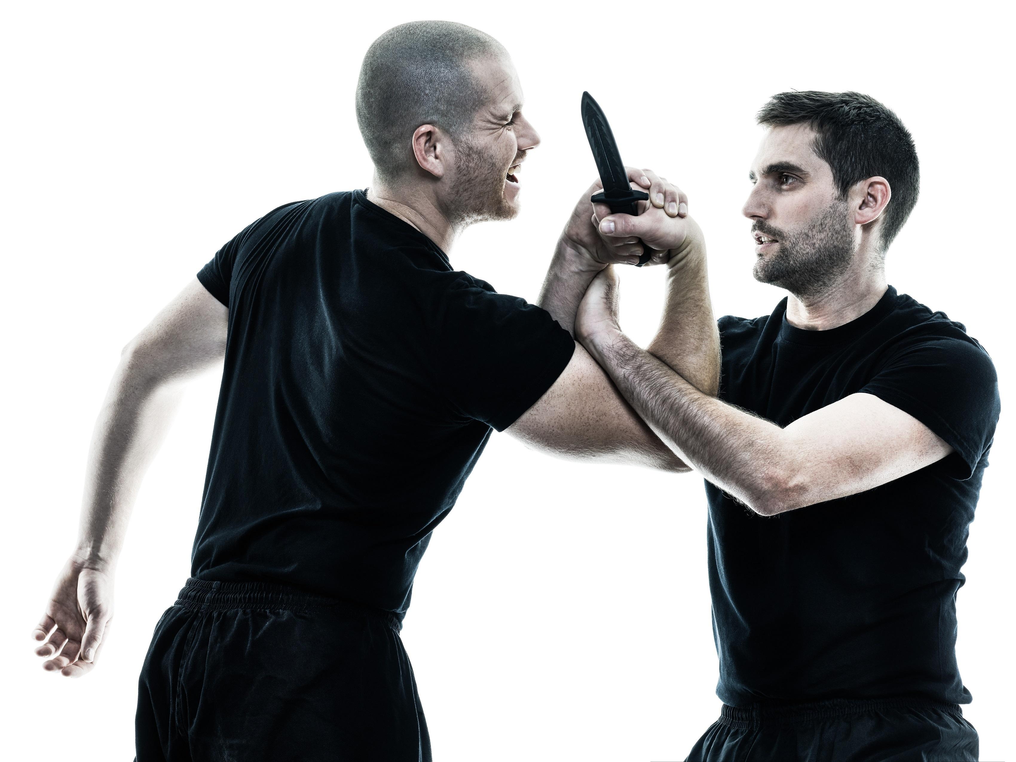 Disarming an attacker is a key component many self-defense arts, like krav maga, teach.