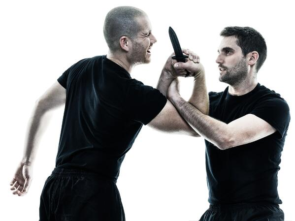 Krav maga teaches various weapons disarms, including for knives.