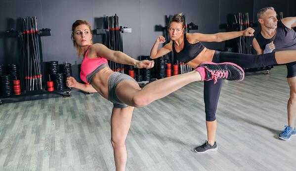 Cardio kickboxing is a great full-body toning workout.
